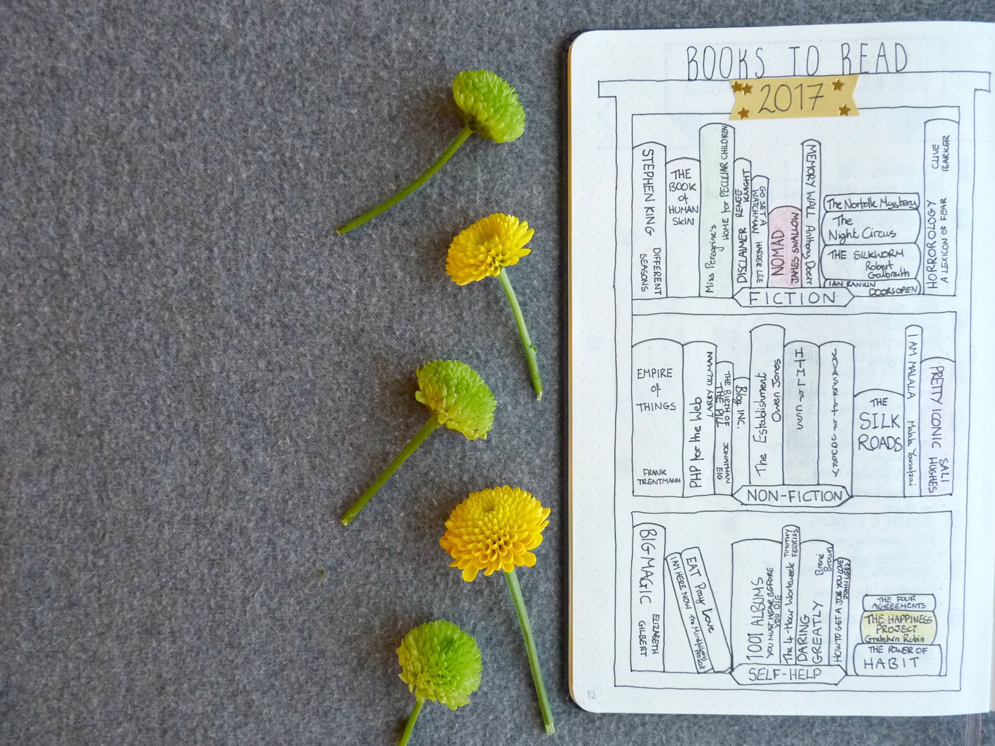 bullet journal library collection