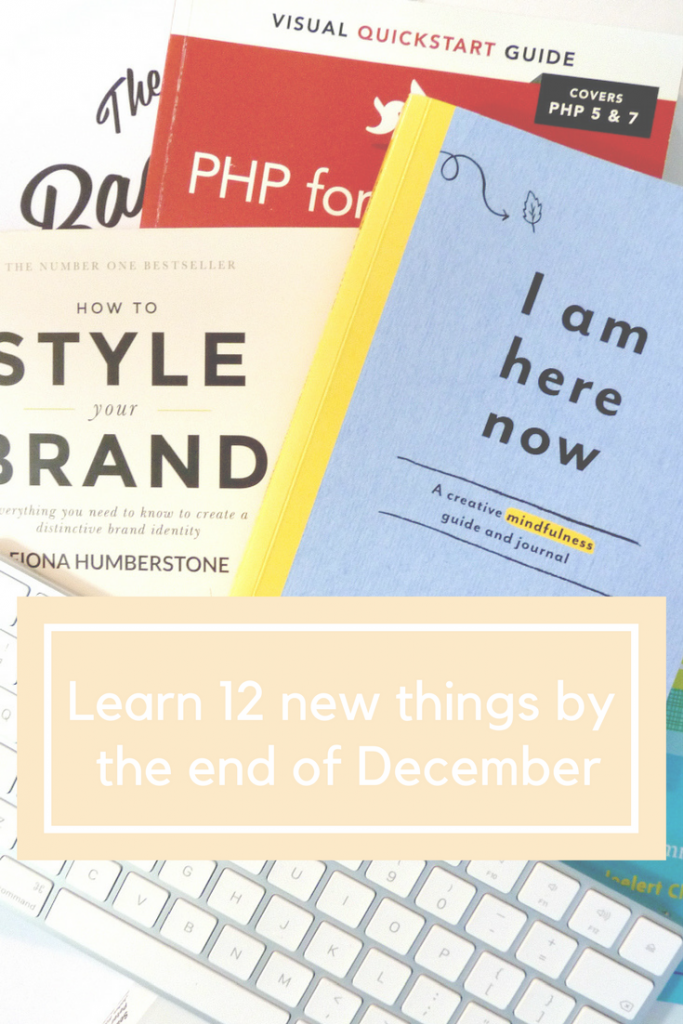 12 new things to learn by the end of December