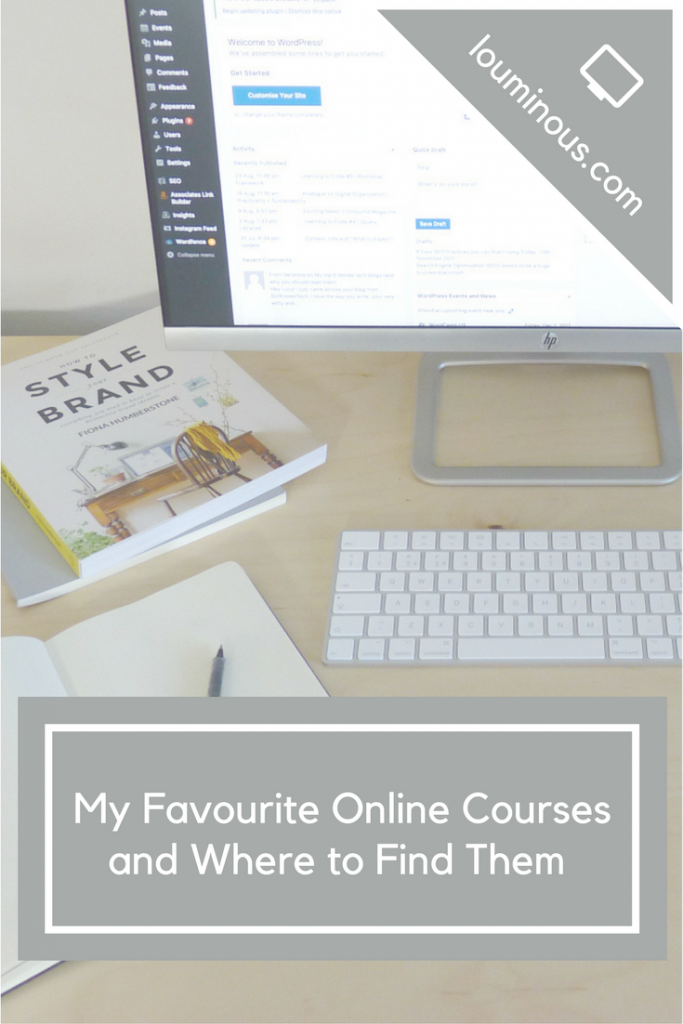 my favourite online courses and where to find them