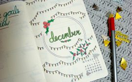 Bullet Journal Monthly Layout for December